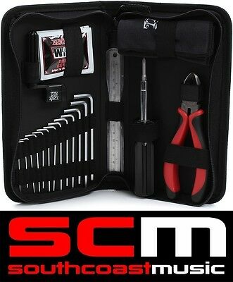 Ernie Ball Musicians Tool Kit - String Winder, Cleaner, Cutter, Wonder Wipes etc