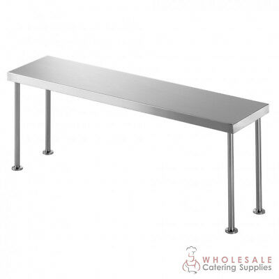 Bench Single Overshelf 2100x300x450mm Kitchen Storage Simply Stainless NEW