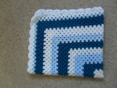 Pretty hand crocheted baby cot/crib/buggy blanket