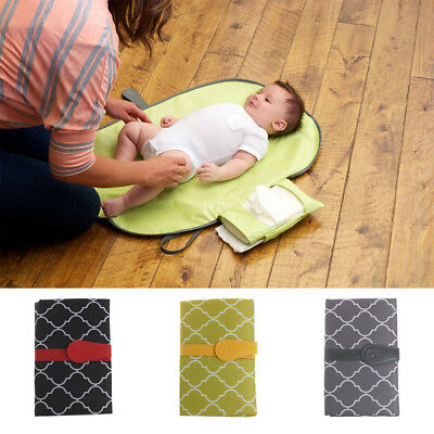 Baby Nappy Diaper Bag Changing Change Clutch Mat Foldable Pad Wallet