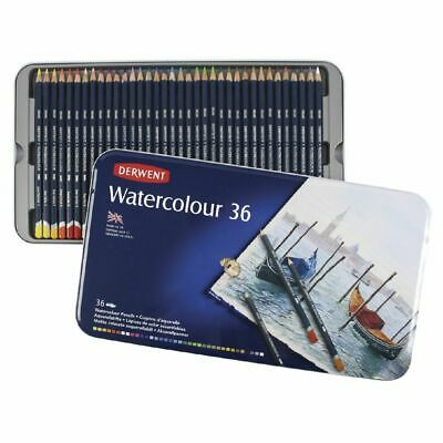 Derwent Watercolour Pencil Tin Of 36