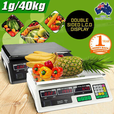 Electronic Price Computing Scale LCD Digital Commercial Food Meat Counting