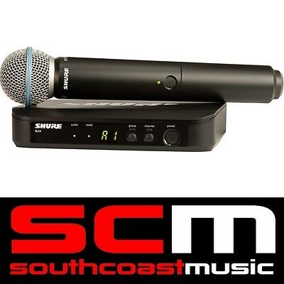 Shure BLX24 / Beta58 Mic Handheld Wireless Microphone System K14 Brand New