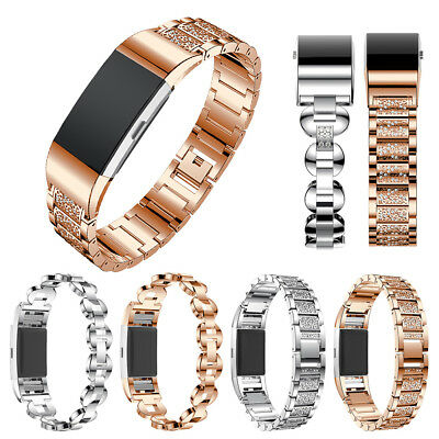 Magnetic Milanese Loop Gold Stainless Steel Watch Band Strap For Fitbit charge 2
