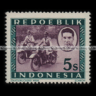 ★ SERVICE POSTAL POSTIER POSTMAN ★ INDONESIA Timbre Moto / Motorcycle Stamp #199