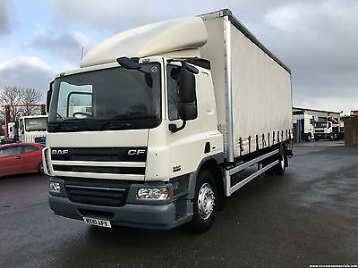2010 Daf CF65.220 18 ton 26ft curtainsider with 1.5 ton tail lift euro 5