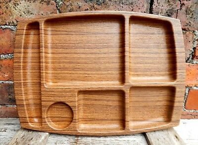Vintage Retro Wood Effect Dinner Lunch TV Tray Mid Century