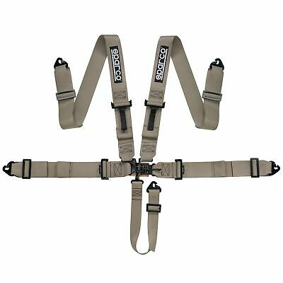Sparco 5 Point Latch & Link Oval / Autograss / Off Road Racing Harness In Beige