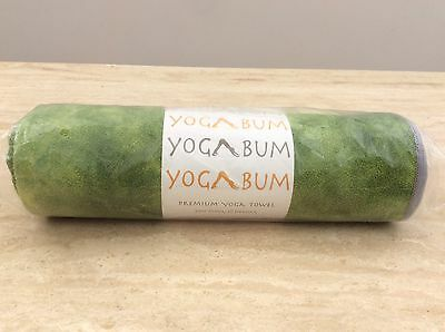 Yoga Bum Premium Yoga Towel 'You Move It Doesn't Mottled Green NEW FREE POSTAGE