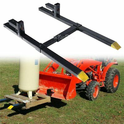 Pro Clamp on Pallet Forks w/ Adjustable Stabilizer Bar for loaders 4000lbs