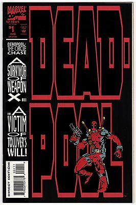 Deadpool #1 The Circle Chase Aug 1993 NM- 9.2 Marvel Comics 1st app Slayback