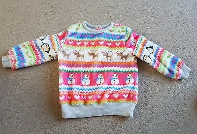 Girls next Christmas jumper 18-24 months