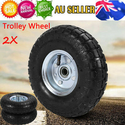 10 Inch Pneumatic Wheels Hand Trolley Cart Sack Truck Wheelbarrow Tyres 20mm