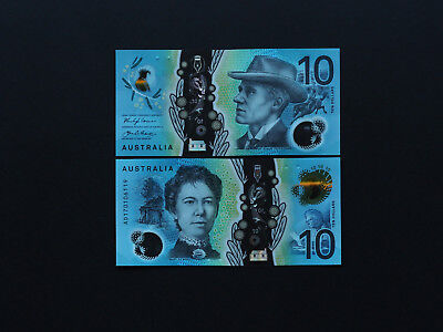Australia Ten Dollar  New Issue !!  Brilliant Gem Mint Notes With Great Colour