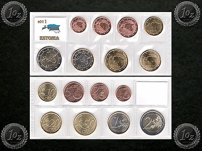 ESTONIA complete EURO SET 2011 - 8 coins SET (1 cent - 2 Euro) UNCIRCULATED