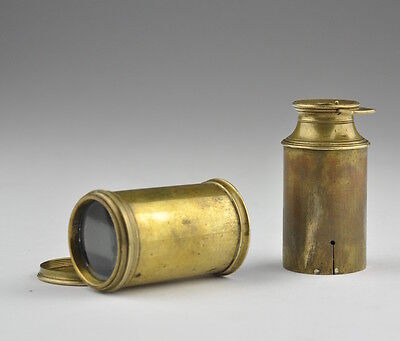 18th century Antique Brass Miniature, small pocket Telescope