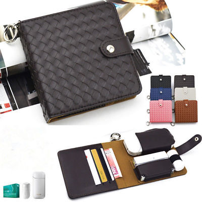 Anti Scratch Full Protective Case for iQOS Luxury Leather Carrying Case Black