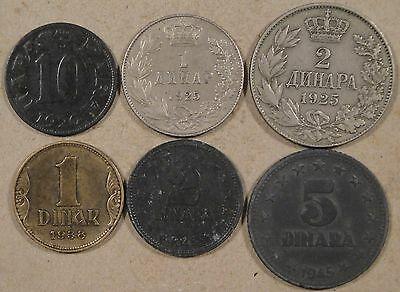 Yugoslavia 1920-45 6 Dif. Types Mid-Better Grade some with issues as Pictured