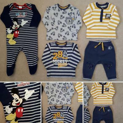 Disney Mickey Mouse Bundle Baby Boys Clothes 3-6 Months Hardly Worn OUTFITS Vgc