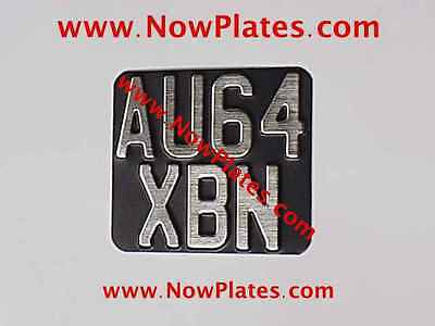 1 x Vintage Pressed Motorcycle Number Plate Brushed Chrome Faced 140mmX120mm