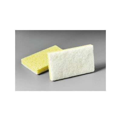 Nassco Pro Series Scouring Sponge, Light Duty, Yellow/White, 20/Case