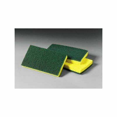 Nassco Pro Series Scouring Sponge, Medium Duty, Yellow/Green, 20/Case