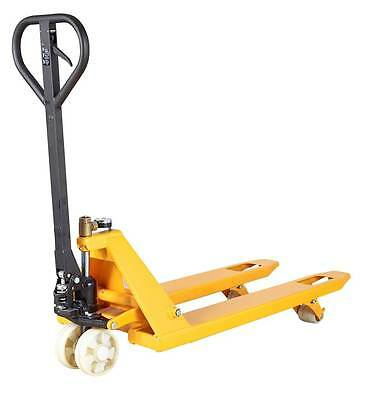Yellow Pallet Truck With Weigh Scale Indicator - 2000kg Load Capacity