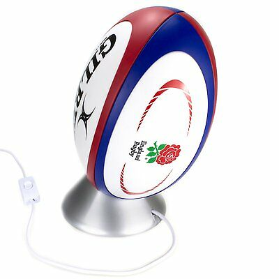 England Rugby Ball Light  - The Perfect Rugby Gift, Bedside or Desk Lamp