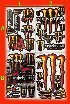 Adesivi Monster Energy Stikers Kit Honda Kawasaki Ducati Suzuki Motocross