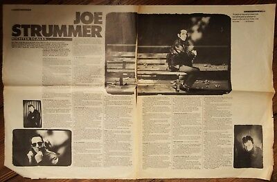 Joe Strummer - Richter Scales (Melody Maker Article / Cutting 30/9/89) The Clash