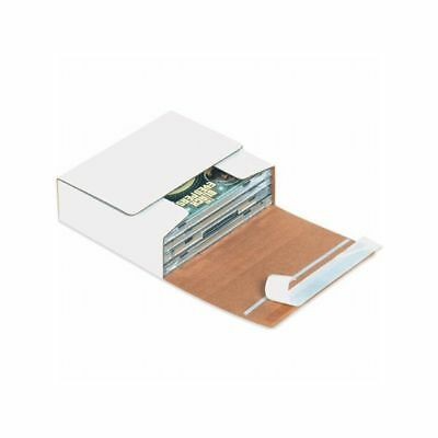 Box Packaging White Self-Seal CD Mailer, 200/bundle