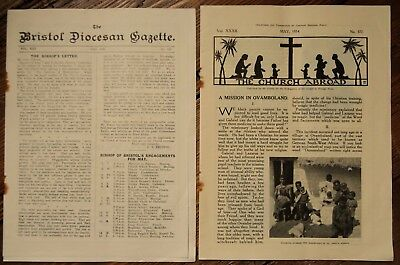 Bristol Diocesan Gazette & The Church Abroad (May 1934 Religious Publications)