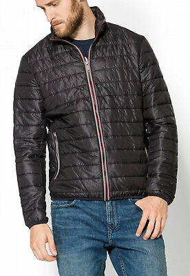 Timberland Mens Milford Quilted Thermal Insulated Jacket Lightweight Coat Black