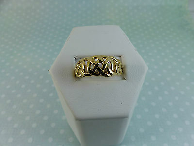 9ct Yellow Gold Celtic Band Ring, Size M