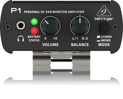 Behringer Powerplay P1 Personal In-Ear Monitor Amplificatore per cuffie, Nero
