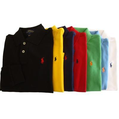 Ralph Lauren boys  pony long sleeved polo shirt cotton age 3,4,5,6,7,8