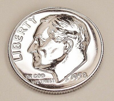 1958  Proof   Dime  90%  Silver  >Exact  Coin  Pictured <    #922     10