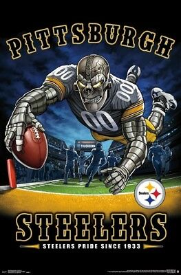 PITTSBURGH STEELERS - END ZONE MASCOT POSTER - 22x34 - NFL FOOTBALL 15995