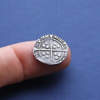 Hammered Silver Coin Henry 6th Penny Pinecone Mascle Issue Durham c 1431 AD