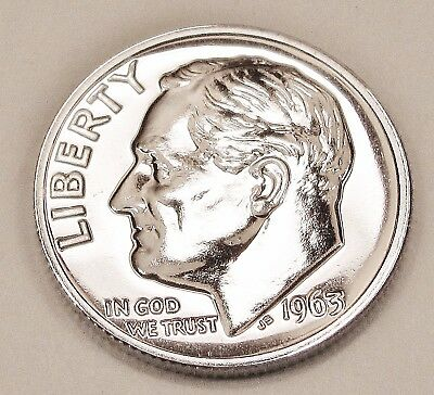 1963   Proof   Dime  90%  Silver  >Exact  Coin  Pictured <    #922     17