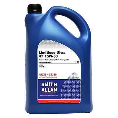 Fully Synthetic 15w-50 Motorcycle Engine Oil Ultra 4T 4-Stroke 5 Litre 5L