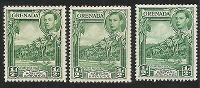 Grenada sg 153, 153b and 153ba mounted mint cat £28