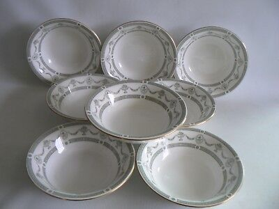 CROWN Staffordshire Apollo China  Fruit / Cereal Bowls X 8