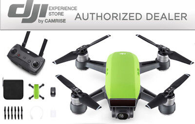 DJI Spark Drone Quadcopter Green and DJI Remote Controller