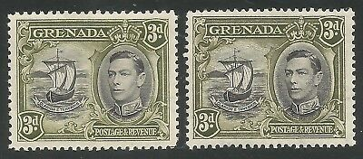 Grenada sg 158 and sg 158a mounted mint cat £30