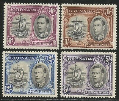 Grenada sg 159/162 all perf 12 1/2 mounted mint cat £58