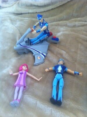 Lazy Town Talking Bundle Sportacus Stephanie Figures & Skychaser Rescue Vehicle