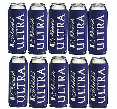 10 New Authentic Michelob Ultra Slim Can Beer Koozie Coozie Coolie Koozies Golf