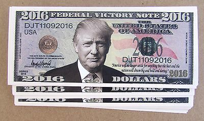 10 Donald Trump President Money Fake 2016 Lot Bills Million Dollar Bills Vi