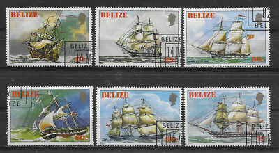 Belize ,1982, Sailing Ships , Set Of 6 Stamps , Perf , Cto/mnh